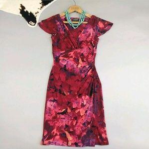 Lauren Ralph Lauren size 2 faux wrap sheath dress